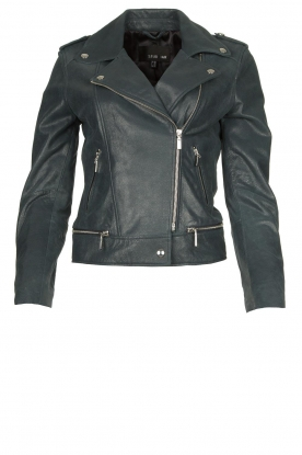 STUDIO AR BY ARMA | Leather biker jacket Kyra | blue