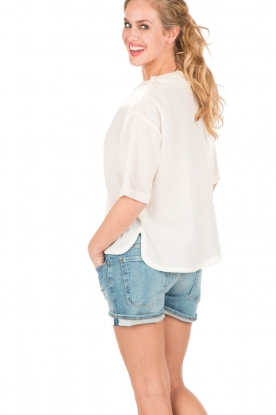 7 For All Mankind | Denim short Nashville | blauw
