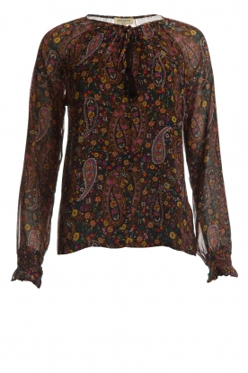 Hipanema |  Floral blouse Jerico | black