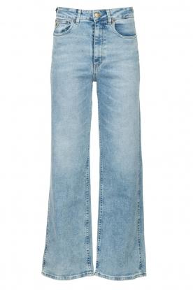 Lois Jeans   Wide leg stretch jeans Rachel   blauw