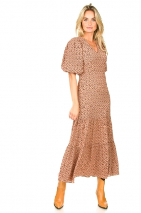 Second Female |  zwart | Maxi dress with floral print Sandra