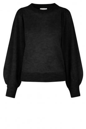 Second Female | Sweater with balloon sleeves Janna | black