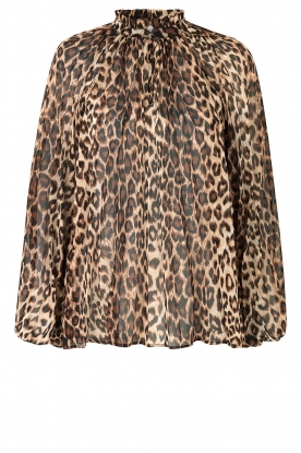 Second Female | Leopard blouse Cello | brown