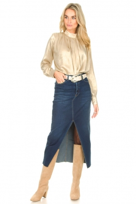Look Stretchy denim skirt Salma