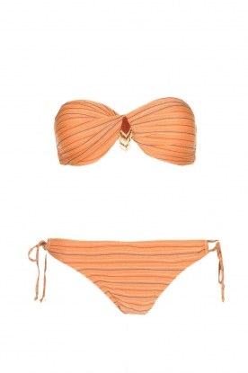 Hipanema |  Bandeau bikini with lurex Swimmy | rust orange