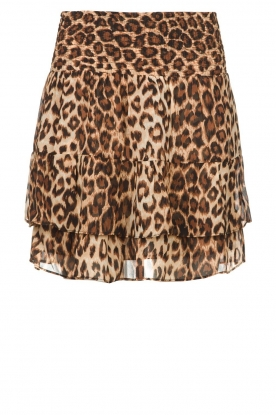 Second Female |  Leopard print skirt Cello | brown