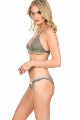 Love Stories | Kanten bralette Miss Daisy | green