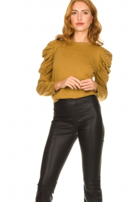 Second Female |  Sweater with puff sleeves Ytta | gold