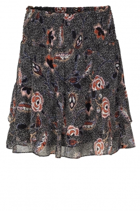 Second Female | Floral skirt Geo | black