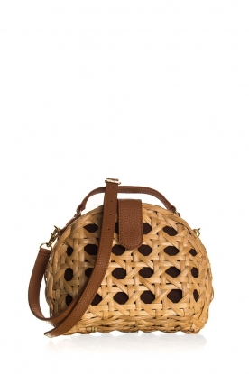 Hipanema |  Rattan shoulder bag Zonza | natural
