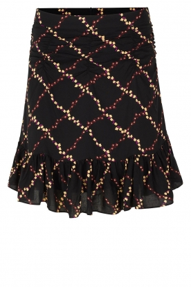 Second Female |  Skirt with floral print Louis | black