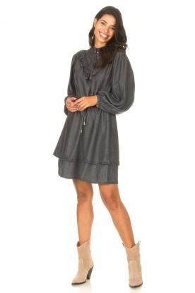 Look Denim dress Coral