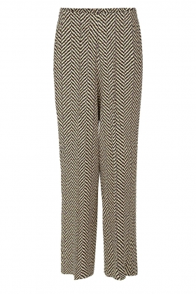 Second Female | Printed trousers Choco | black