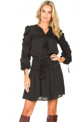Sofie Schnoor |  Dress with drawstrings Laya | black