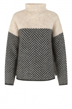 Second Female | Sweater with stand-up collar Herrin | blcak