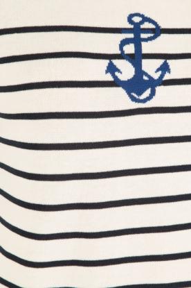 Set | Gebreide trui Marit | wit/blauw