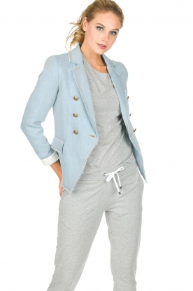 Set | Denim blazer Dylan | blauw