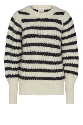 Sofie Schnoor |  Knitted sweater with stripes Noemie | natural