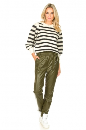 Look Knitted sweater with stripes Noemie
