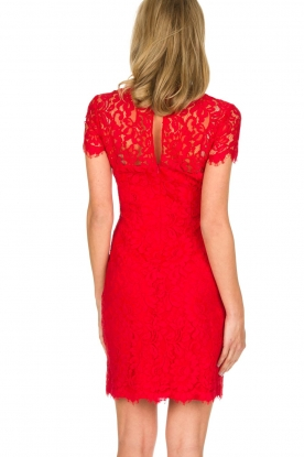 Set | Kanten jurk Belle | rood