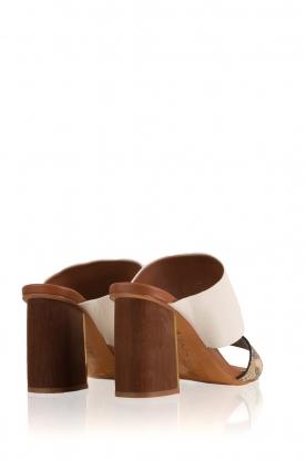 Lola Cruz | Leren sandaal Ema | multi