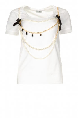 Liu Jo | T-shirt with chain detail Edor | white