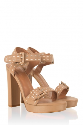 Lola Cruz | Leren sandalen Elsa | bruin