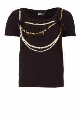 Liu Jo |T-shirt with chain detail Edor | black