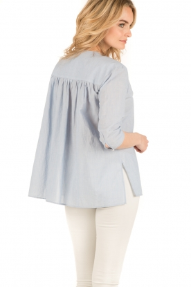 Set | Oversized blouse Romy | blauw