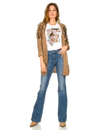 Liu Jo |  Cardigan with sequins Scotte | brown