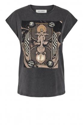 Sofie Schnoor    T-shirt with imprint Vioa   black