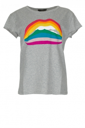 Set | T-shirt Rainbow Lips | grijs