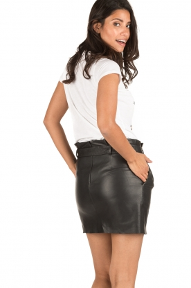 Set | Leren rok Kate | zwart