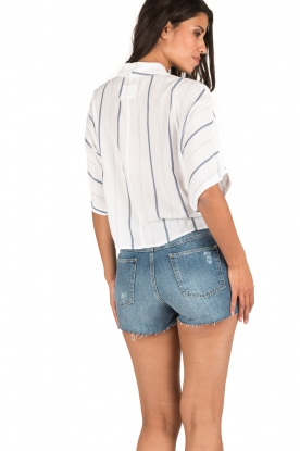 Set | Denim shorts Juul | blauw