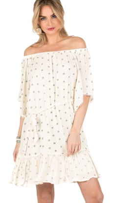 Hipanema | Off-shoulder jurk Boheme | wit