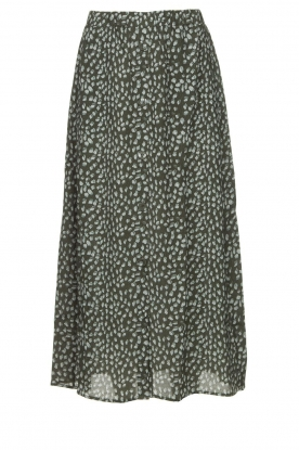 Knit-ted |Maxi-rok met print Patty | groen