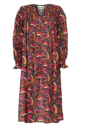 Antik Batik |  Cotton midi dress with print Piotr | multi