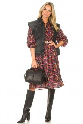Look Cotton midi dress with print Piotr