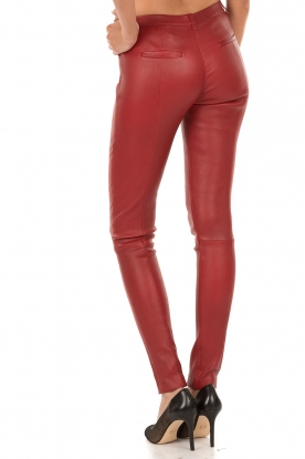 Leather pants Blake | red