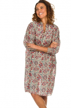 Antik Batik |  Printed cotton dress Betsie | multi