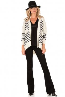 Denham | High waisted flared jeans Farrah lengtemaat 34 | zwart