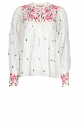 Antik Batik |  Embroiderded blouse Lilou | white