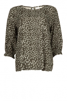 Knit-ted |Blouse with print Pascal | green