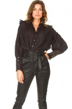 Antik Batik |  See-through blouse Aramis | black