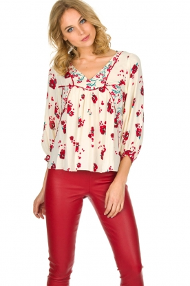 ba&sh | Top Bright met bloemen print | Naturel