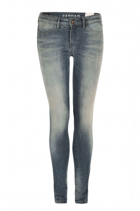 Denham |  High waisted skinny jeans Spray Yiv length size 32 | blue