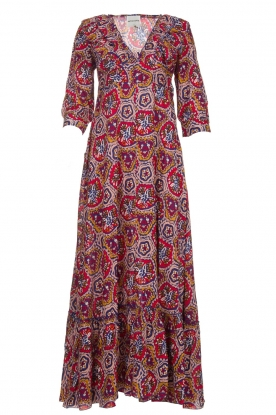 Antik Batik |  Dress with print Sam | red