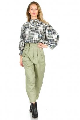 Look Checkered cotton blouse Jerro