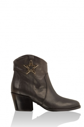 Atos Lombardini |  Leather ankleboots Star Trooper | Black