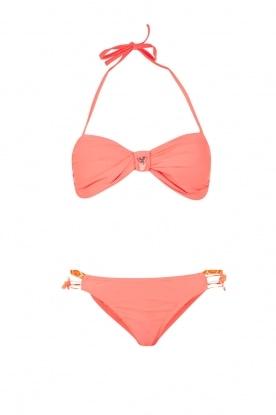 Hipanema | Bandeau bikini Uni | neon roze